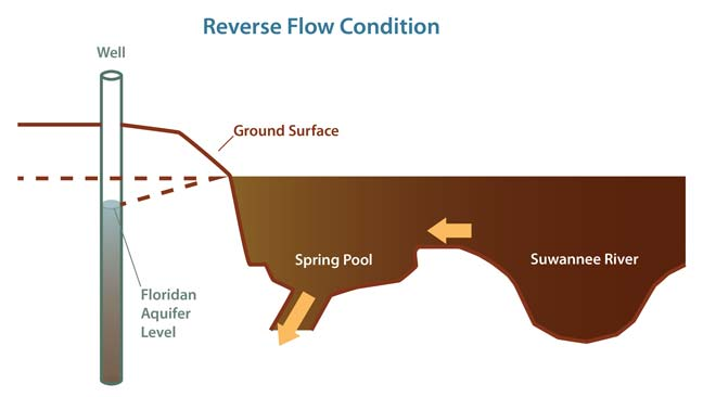 Graphic Illustrating Reverse Flow Condition